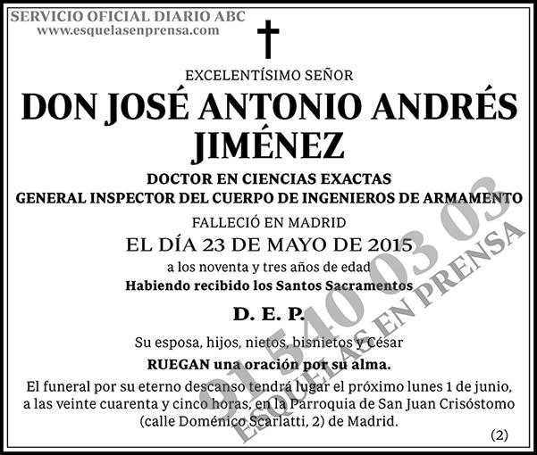 José Antonio Andrés Jiménez